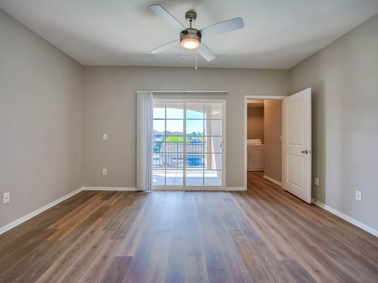 Spacious Living Room With Private Balcony at The Villas at Towngate, California, 92553